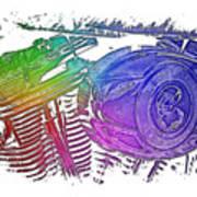 2007 Harley C 01 Cool Rainbow 3 Dimensional Art Print
