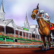 2008 Kentucky Derby Winner Big Brown Art Print