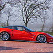 2009 Chevrolet Corvette Zr 1 Art Print