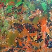 2009 Dali 100x100cm Acrylic  And Oil On Canvsa Art Print