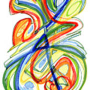 2010 Abstract Drawing Eight Art Print