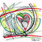 2010 Abstract Drawing Eighteen Art Print
