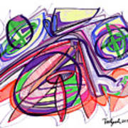 2010 Abstract Drawing Eleven Art Print