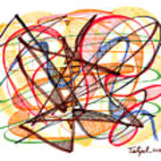 2010 Abstract Drawing Fourteen Art Print