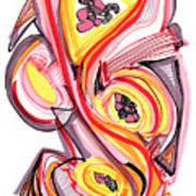 2010 Abstract Drawing Nine Art Print