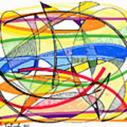 2010 Abstract Drawing Sixteen Art Print