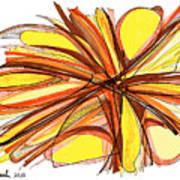 2010 Abstract Drawing Thirteen Art Print