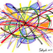 2010 Abstract Drawing Twelve Art Print
