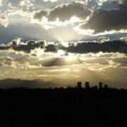 2010 June 4 Sunset Over Denver Art Print