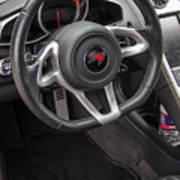 2012 Mc Laren Steering Wheel Art Print