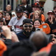 2012 San Francisco Giants World Series Champions Parade - Sergio Romo - Dpp0007 Art Print by Wingsdomain Art and Photography