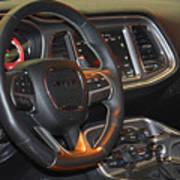 2015 Dodge Challenger Srt Hellcat Interior Art Print
