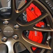 2015 Dodge Challenger Srt Hellcat Wheel Art Print
