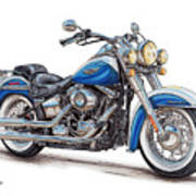 2015 Harley Softail Deluxe Art Print