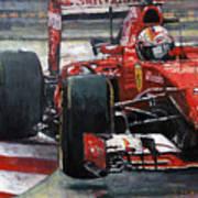 2015 Hungary Gp Ferrari Sf15t Vettel Winner Art Print