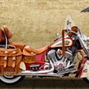 2015 Indian Chief Vintage Motorcycle - 2 Art Print