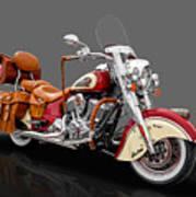 2015 Indian Chief Vintage Motorcycle - 3 Art Print