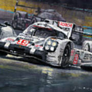 2015 Le Mans 24 LMP1 WINNER Porsche 919 Hybrid Bamber Tandy Hulkenberg Art Print