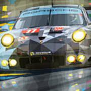 2015 Le Mans Gte-am Porsche 911 Rsr Art Print