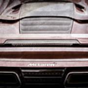2015 Mclaren 650s Spider Rear Emblem -0011ac Art Print