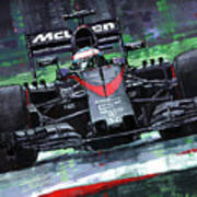 2015 Mclaren Honda F1 Austrian Gp Alonso  Art Print