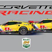 2016 Daytona 24 Hour Corvette Poster Art Print