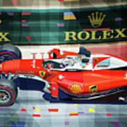 2016 Ferrari Sf16-h Vettel Monaco Gp  Art Print