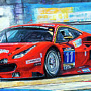 2016 Hankook 24h Epilog Brno Ferrari 488 Gt3 Winner Art Print