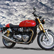 2016 Triumph Cafe Racer Motorcycle Art Print