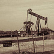 2016_10_pecos Tx_ Pump Jacks 1 Art Print