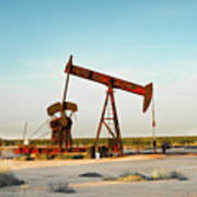 2016_10_pecos Tx_pump Jacks 2 Art Print