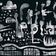2017-04-08-black-white Art Print