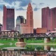 2017 Columbus Panoramic Art Print