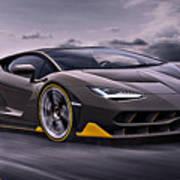 2017 Lamborghini Centenario Art Print