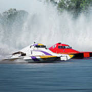 2017 Taree Race Boats 05 Art Print