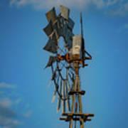 2017_08_midland Tx_windmill 8 Art Print