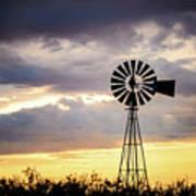 2017_09_midland Tx_windmill 3 Art Print