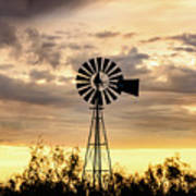 2017_09_midland Tx_windmill 6 Art Print