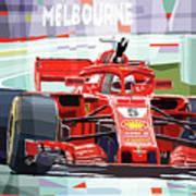 2018 Australian Gp Ferrari Sf71h Vettel Winner  Art Print