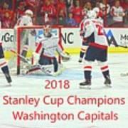 2018 Stanley Cup Champions Washington Capitals Art Print