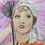 20's Glamour, Parasol Art Print