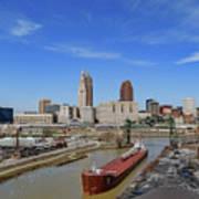 Cleveland Skyline Art Print