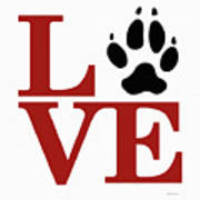 Love Claw Paw Sign Art Print