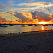 22- Sunset At Seagull Beach Art Print