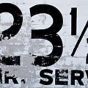 23 1/2 Hour Service Art Print