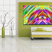 An Example Of Modern Art By Rolf Bertram In An Interior Design Setting Art Print