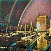 Docklands Double Rainbow Art Print