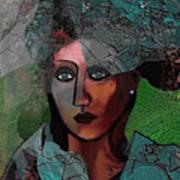 239 - Young Woman In Green Dress 2017 Art Print