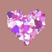 Love Heart Valentine Shape Art Print