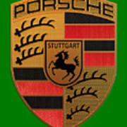 Porsche Label Art Print